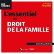 L'essentiel du droit de la famille (édition 2020/2021) - Couverture - Format classique