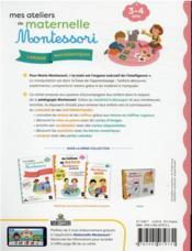 Mes ateliers de maternelle Montessori : langage-mathématiques - 4ème de couverture - Format classique