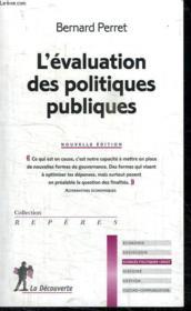 L'évaluation des politiques publiques - Couverture - Format classique