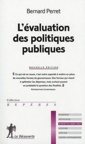 L'évaluation des politiques publiques - Intérieur - Format classique