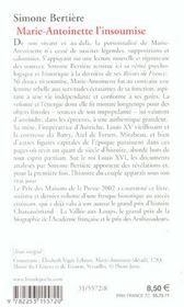 Marie antoinette, l'insoumise ( les reines de france au temps des bourbons, tome 4) - 4ème de couverture - Format classique