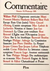 Revue Commentaire N.93 - Couverture - Format classique