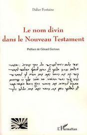 Le nom divin dans le nouveau testament - Intérieur - Format classique