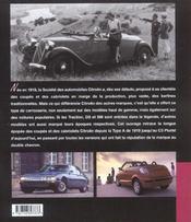 Citroen coupes et cabriolets - 4ème de couverture - Format classique