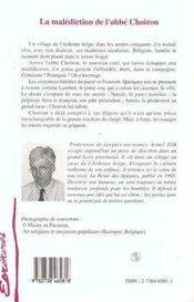 La malédiction de l'abbé Choiron - 4ème de couverture - Format classique