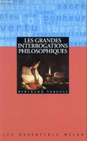 Grandes Interrogations Philosophiques (Les) - Couverture - Format classique