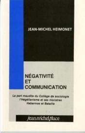 Négativité et communication - Couverture - Format classique
