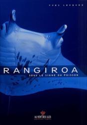 Rangiroa, sous le signe du poisson - Couverture - Format classique