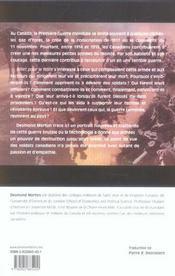 Billet Pour Le Front Le Soldat Canadien Et La 1e Guerre - 4ème de couverture - Format classique