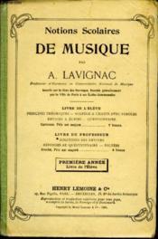 Notions Scolaires De Musique - Couverture - Format classique