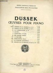 Oeuvres Pour Piano. Sonate. - Couverture - Format classique