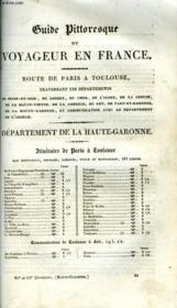 Guide Pittoresque Du Voyageur En France - Departement De La Haute-Garonne - Couverture - Format classique