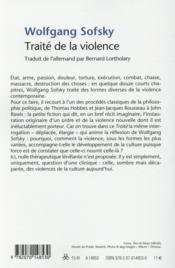 Traité de la violence - 4ème de couverture - Format classique