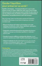 L'équilibre acido-basique - 4ème de couverture - Format classique
