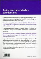 Traitement des maladies parodontales - 4ème de couverture - Format classique