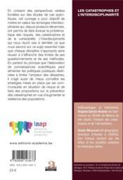 Les catastrophes de l'interdisciplinarité ; dialogues, regards croisés, pratiques - 4ème de couverture - Format classique