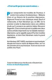 Manie et mélancolie ; sur les troubles bipolaires - 4ème de couverture - Format classique