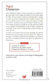 Chatterton - 4ème de couverture - Format classique