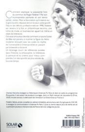 Federer : un mythe contemporain - 4ème de couverture - Format classique