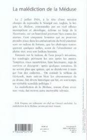 La malédiction de la Méduse - 4ème de couverture - Format classique