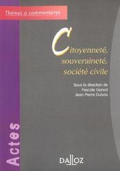 Citoyennete, souverainete, societe civile - 1ere ed. - Intérieur - Format classique