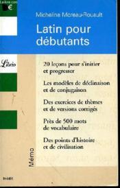 Latin pour débutants - Couverture - Format classique