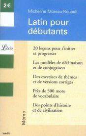 Latin pour débutants - Intérieur - Format classique