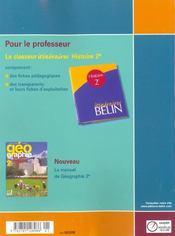 Histoire - 2nde (2001) - manuel eleve - 4ème de couverture - Format classique