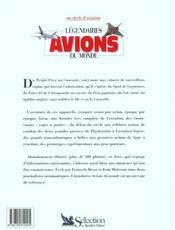 Legendaires avions du monde - 4ème de couverture - Format classique