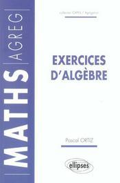 Exercices d'algebre maths agreg - Intérieur - Format classique