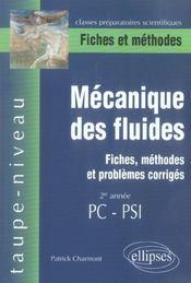 Mecanique Des Fluides Fiches Methodes Et Problemes Corriges 2e Annee Pc-Psi - Intérieur - Format classique