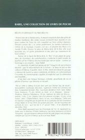Recits D'Odessa Et Autres Recits Babel 200 - 4ème de couverture - Format classique