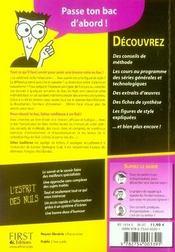 Le Bac Francais Pour Les Nuls (Edition 2007) - 4ème de couverture - Format classique