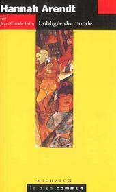 Hannah Arendt ; l'obligée du monde - Intérieur - Format classique