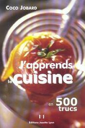 J'apprends la cuisine en 500 trucs - Intérieur - Format classique