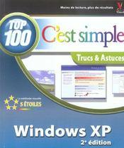 Windows xp, c'est simple top 100, 2e (2e édition) - Intérieur - Format classique