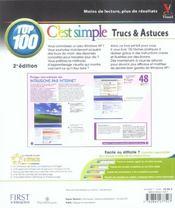 Windows xp, c'est simple top 100, 2e (2e édition) - 4ème de couverture - Format classique