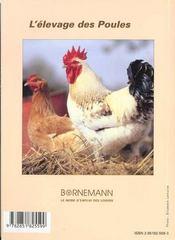 L'elevage des poules pour la chair et les oeufs - 4ème de couverture - Format classique
