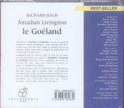 Jonathan livingston, le goéland - 4ème de couverture - Format classique