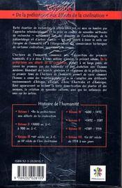 Hitoire de l'humanité t.1 ; de la préhistoire aux débuts de la civilisation - 4ème de couverture - Format classique