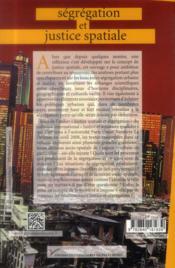 Ségrégation et justice spatiale - 4ème de couverture - Format classique