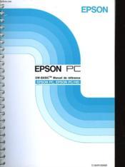 Epson Pc Epson Pc/hd - Gm-Basic Manuel De Reference - Couverture - Format classique