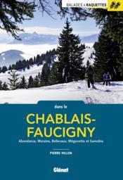Balades à raquettes dans le Chablais-Faucigny - Couverture - Format classique