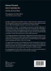 Red mirror ; l'avenir s'écrit en Chine - 4ème de couverture - Format classique