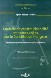 Le controle de constitutionnalité et normes visées par la constitution française - Intérieur - Format classique