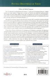 Le controle de constitutionnalité et normes visées par la constitution française - 4ème de couverture - Format classique