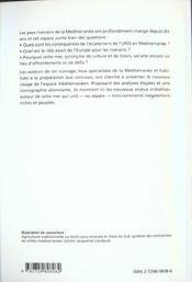 Une Mer Entre Trois Continents La Mediterranee Capes/Agegation - 4ème de couverture - Format classique