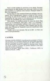 Vieillir Ou La Vie A Inventer - 4ème de couverture - Format classique