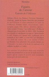 Figures de l'amour ; extraits de l'odyssée - 4ème de couverture - Format classique