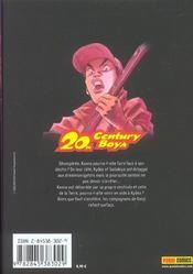 20th century boys t.11 - 4ème de couverture - Format classique